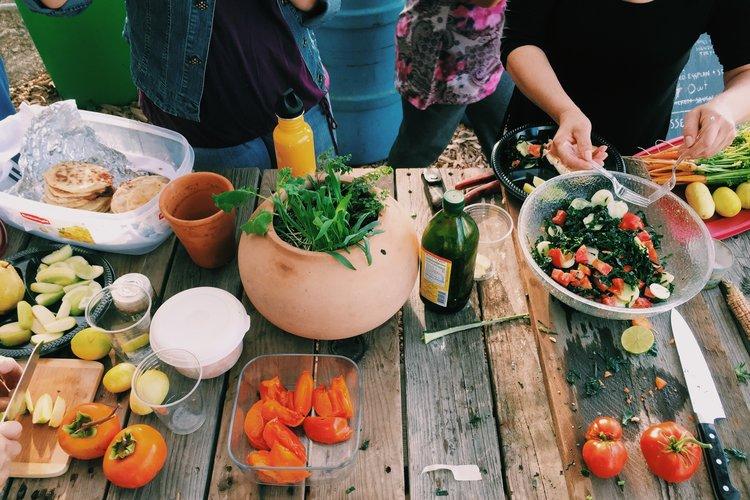 saddlerock gardens food spread